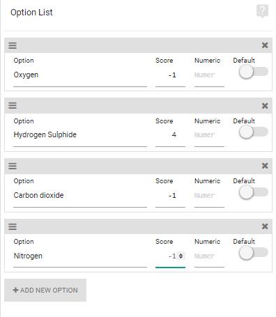 Single Options Score