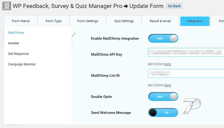 MailChimp Integration Configuration