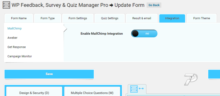 Mailchimp Integration enabling