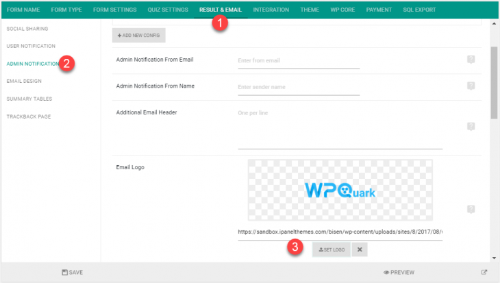 Change logo for admin notification