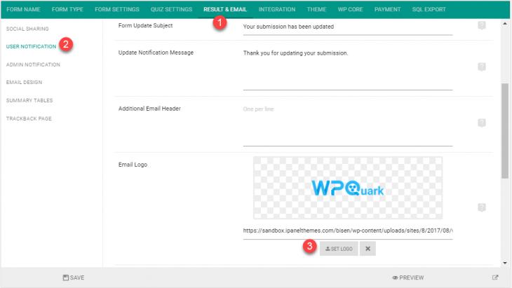 Change logo of  user notification