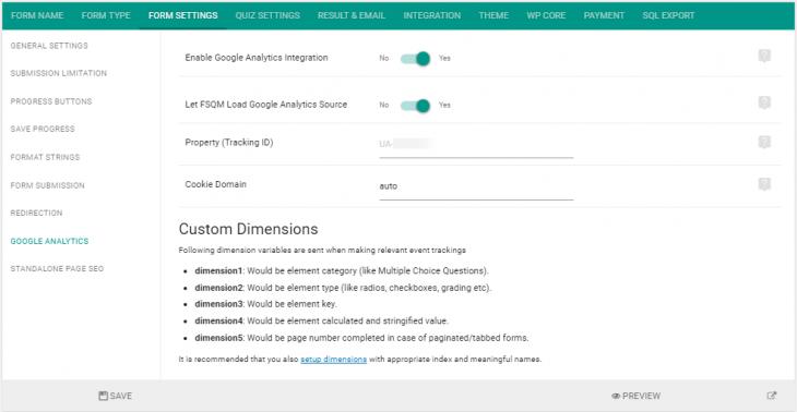 Setup eForm with Google Analytics Event Tracking