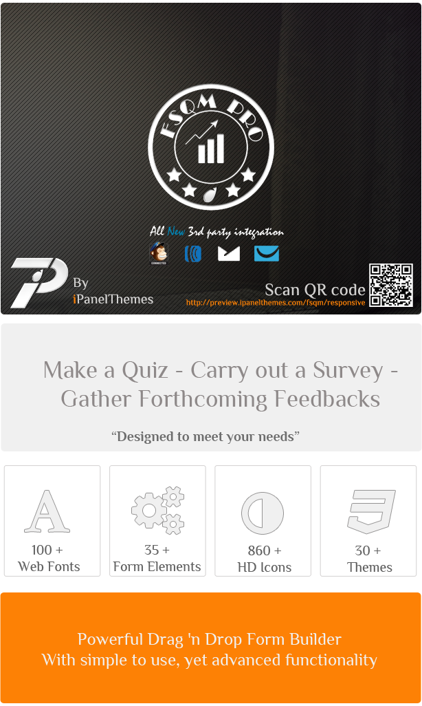 Make Quiz Carry out Survey Gather ForthcornThg Feedbacks meet your Lcons Powerful Dra8 Drop Form Builder Web Fonts Themes With simple use, yet advanced functionality