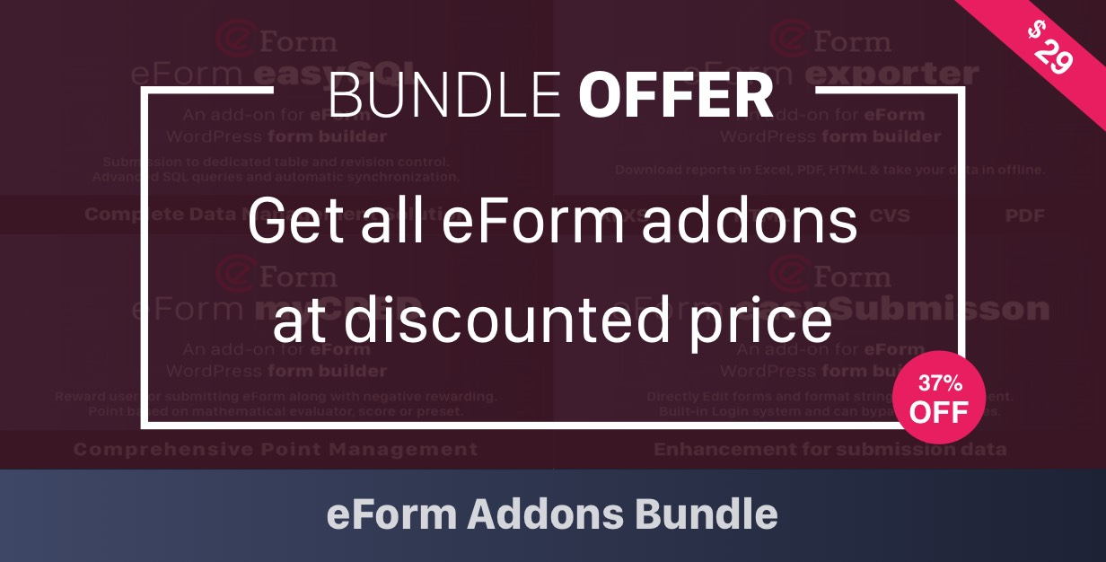 Buy EForm Addon Bundle