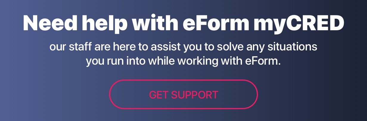 Get Support eForm myCRED