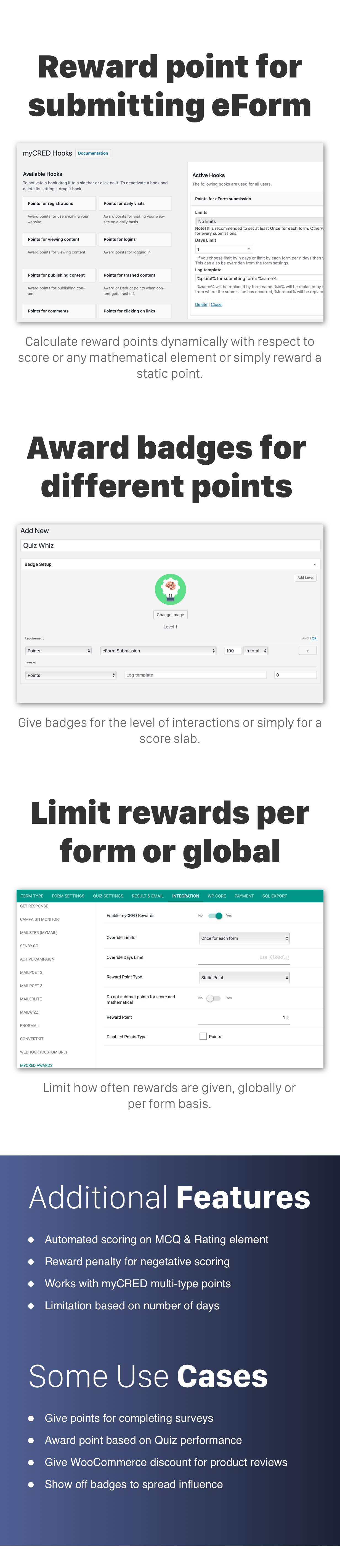 eForm myCRED product features